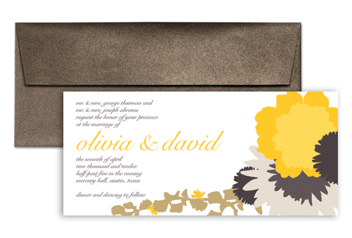 Sunflower Blooming Design Microsoft Wedding Invite 9x4 In Horizontal