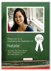 Highschool With Photo Personalized Graduation Invitation