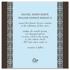 Square Border Indian Wedding Announcement Samples