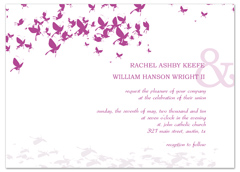 Design Your Own Butterfly Wedding Invitation Example