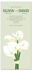 White Lily Bouquet Wedding Invitation Templates